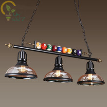 Creative Pool Table Pendant Lamp Nordic Decorate Lights Retro Industrial E27 Pendant Lights Restaurant Bar Cafe Hanging Lamp