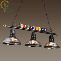 Creative Pool Table Pendant Lamp Nordic Decorate Lights Retro Industrial E27 Pendant Lights Restaurant Bar Cafe Hanging Lamp