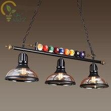 Lámpara colgante de mesa para piscina luces decorativas de estilo nórdico, E27, para restaurante, Bar y cafetería