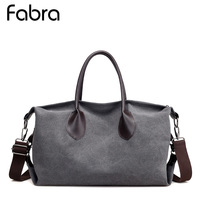 Fabra Canvas Bag Big Casual Tote Women Handbags Vintage Shoulder Crossbody Beach Bags Fashion Large Travel Messenger Bags Grey