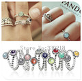 925 Sterling Silver Rings Birthstone European Brand Elegant Fashion Jewelry For Women Ring Wedding Party Birthday Top Quality