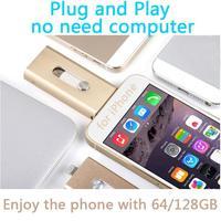 Для iphone, plug and play молния OTG USB Flash Drive, карты памяти, USB 32 ГБ 64 ГБ 128 ГБ 512 ГБ stick флэш-диск на ключ pendrives