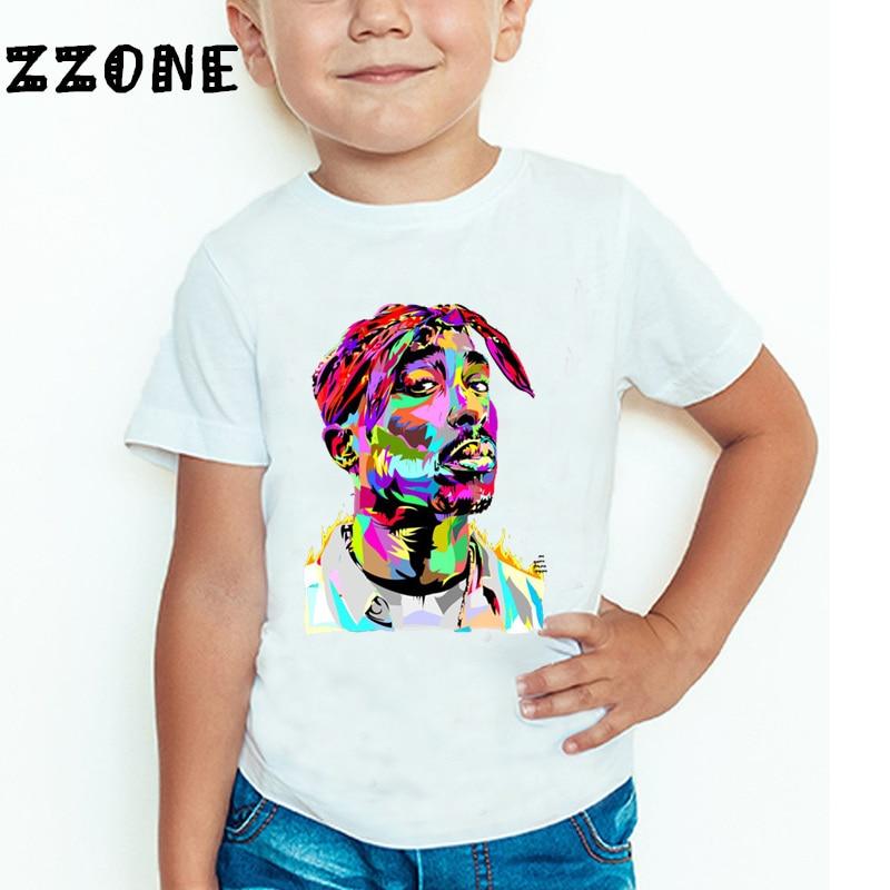 Children Tupac 2pac Hip Hop Swag Printed T-shirt Kids Baby Casual T Shirt Girls/Boys Short Sleeve Summer Tops,ooo287