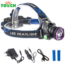 Cree xml T6 Portable Non Zoom Focus Headlamp High Power Led Head Torch Light Waterproof Fishing Cap Torch with 18650 Li ION