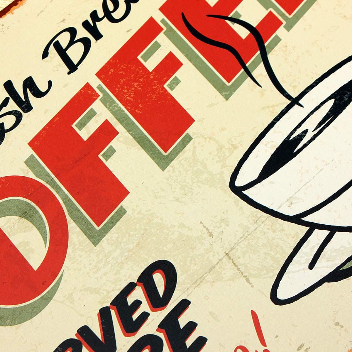 KiWarm Hot Sale Coffee Metal Home Shop Pub Wall Garage Shabby ...