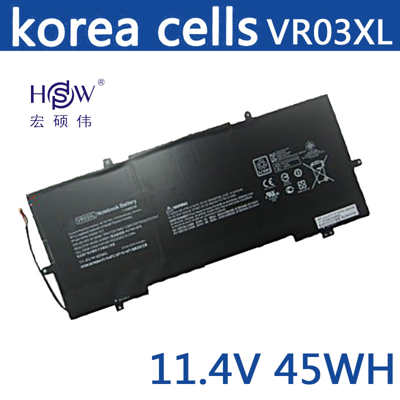 HSW New 11.4V 45WH VR03XL HSTNN-IB7E TPN-C120 battery for HP Pavilion 13-D ENVY 13 bateria akku