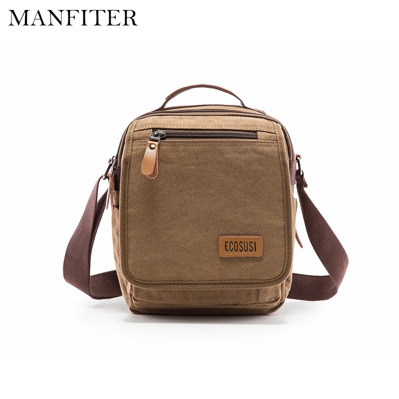 MANFITER 2017 New Men Canvas Messenger Bags Casual Shoulder Bag Travel Crossbody Bag Designer Handbags High Quality Bolsa new winter jacket men cotton parkas padded long black thick warm casual hooded fur collar jacket coat outwear zipper jackets