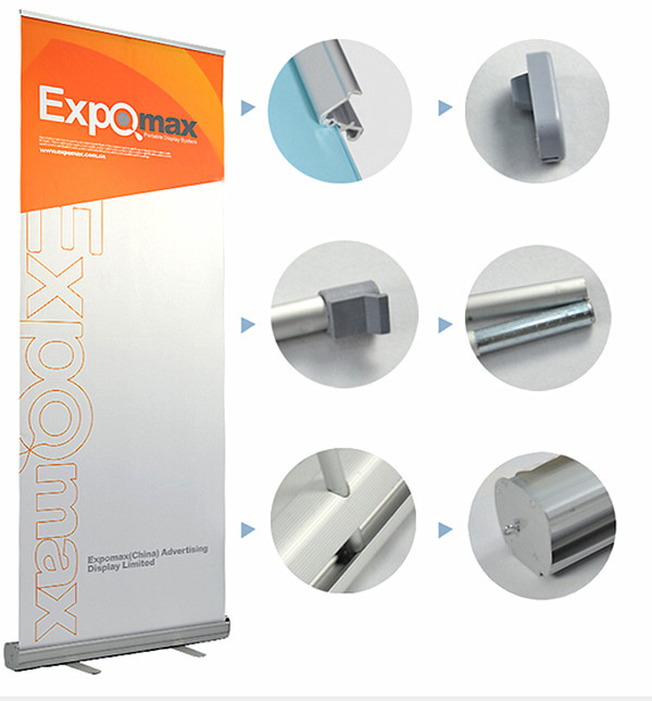 Aluminium Roll Up Banner POP Sign Display Advertising Stands 85x200cm For Trade Show Exhibition 2pcs Graphic Available