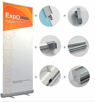 Aluminium enrouler la publicité d'affichage de signe de POP de bannière se tient 85x200 cm pour l'exposition de salon commercial graphique de 2 pièces disponible