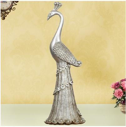 Statue de paon, artisanat d'oiseaux créatifs, décoration de la maison, cadeaux de mariage - 3