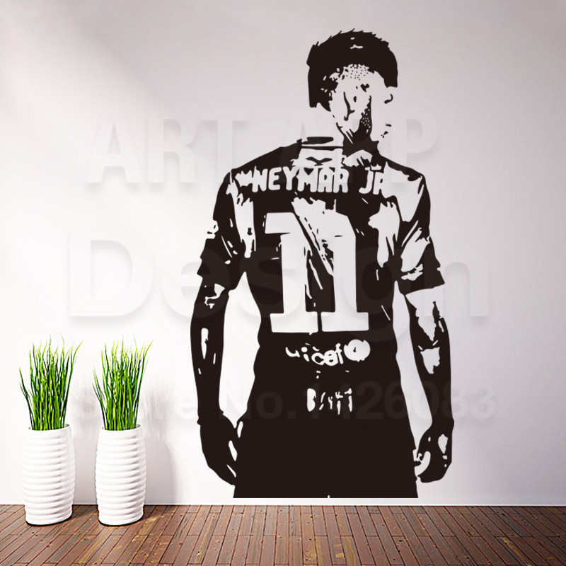 Art new design home decor football player vinyl neymar for New design home decoration