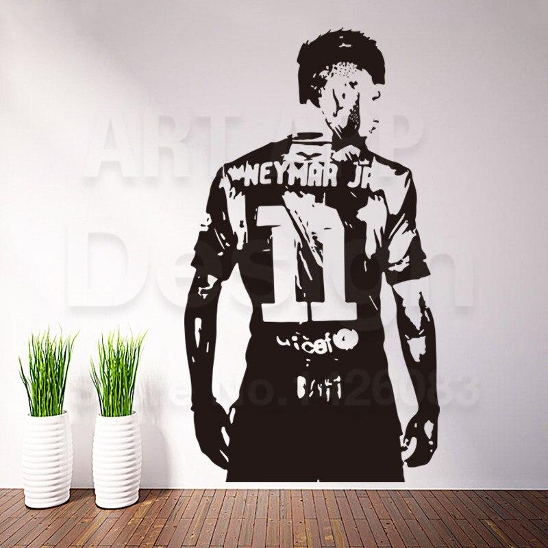 Arte nuevo diseño decoración de fútbol Neymar reproductor de vinilo etiqueta de