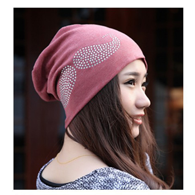 2017 Fashion Autumn And Winter Hats For Women Beanies Diamond The