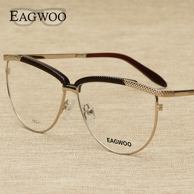 74760ddb703f Metal Alloy Full Rim Vintage Big Optical Frame Prescription Women Fashion  Design Eyeglasses Reading Cat Eye