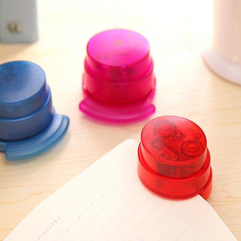 Professioneller Verkauf 1 Stück Praktische Grundnahrungsmittel Freier Hefter Papier Bindung Binder Stapless Schreibwaren Schnelle Farbe