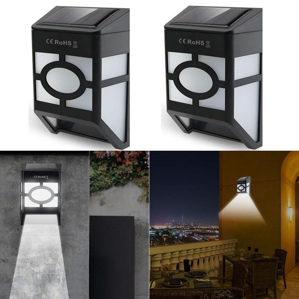 (4/pack) солнечный свет настенный светильник для Открытый Пейзаж сада Двор Газон, забор Deck крыши Освещение украшения