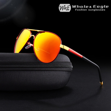 W&E High Quality Anti Glare Polarized Aluminum-Magnesium UV400 Mens Sunglasses Cool Pilot Driving Glasses Women