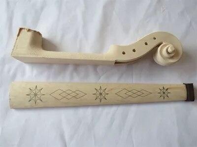 Matériel de fabrication de violon, tête de violon et planche à doigt en érable sculpté sont magnifiquement conçus