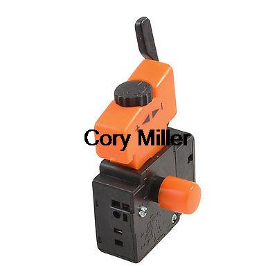 Electric Drill 5E4 Lock On Speed Control Trigger Switch AC 250V 6A FA2-6/1BEK spno 5e4 lock on electric drill power tool trigger switch