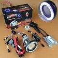 Фара мотоцикла Объектив AC 35 Вт CCFL Angel Eyes Halo Hid Bi xenon Объектив проектора Комплект H1 H4 H7 9005 9006 HB3 HB4 4300 К 6000 К