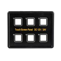 Switch 2017 12V 24V 6 Gang LED Switch Panel Slim Touch Control Panel Box For Car