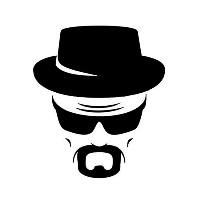1815 5cm heisenberg car personalized car stickers cover scratches mask cool stickers black silver