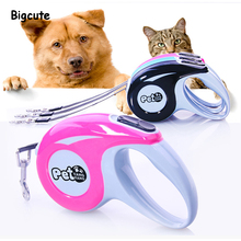 Dog Leash Retractable Automatic Traction Rope ABS Nylon 3m/5m Pet Cat Puppy Running Walking Lead For Small Medium