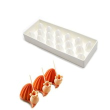 Silicone Cake Mold 17Holes Torch Shape Nonstick Bakeware Wedding DIY Decorating Tools For Chocolate Dessert Mousse Molds