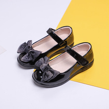 Black Childrens Leather Shoes Kids Girls Princess Dancing School Student For 4 5 6 7 8 9 10-15T