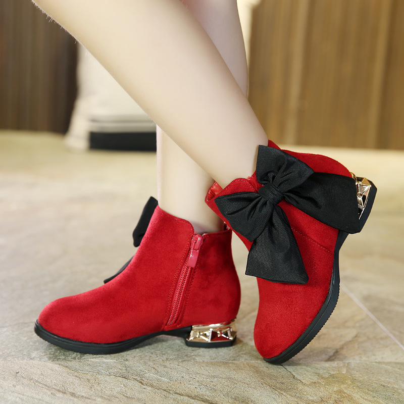 2017 New Autumn Winter Girls Boots Children Leather Shoes Fashion Girls Princess Boots Thickening Girls Red Bow Snow Boots2017 New Autumn Winter Girls Boots Children Leather Shoes Fashion Girls Princess Boots Thickening Girls Red Bow Snow Boots