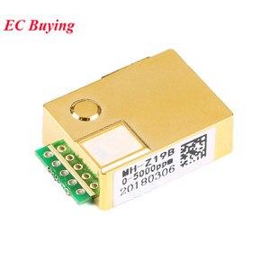 Image 4 - MH Z19 kızılötesi CO2 sensörü modülü MH Z19B karbon dioksit gaz sensörü CO2 monitör 0 5000ppm MH Z19B