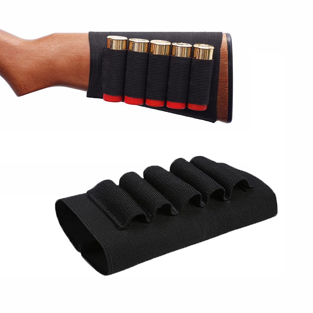 Tactical Cartridge Holder Airsoft 5 Shots 12 Gauge Shot Gun Shell Bandolier Gauge Ammo Holder Carrier Hunting Accessory