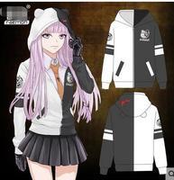 2018 Hot Anime Danganronpa Monokuma Cosplay Unisex Hoodie Sweatshirt Mit Kapuze Schwarz Tragen Lange casual mant
