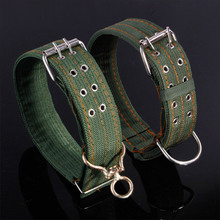 Large Pet Dog Collar  Thickened Widening Metal Buckle Comfortable Outdoor Training Adjustable Quick Released