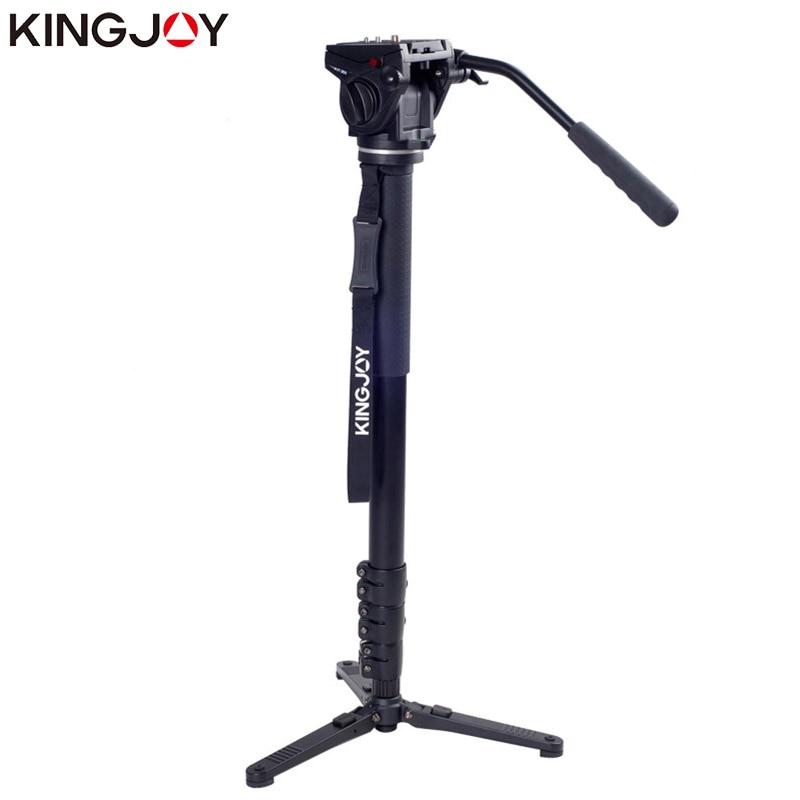 Kingjoy MP4008F + VT-3510 Dslr Para Todos Os Modelos de Câmera Tripé Monopé Profissional Parágrafo Movil Tripe Flexível Stativ SLR DSLR