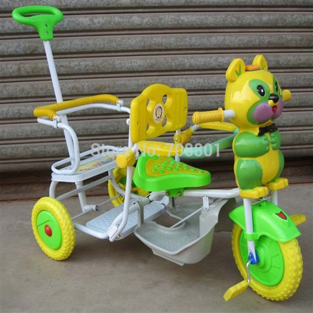 Children Tandem Music Tricycle Kids Bike Double Seat Music