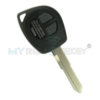 Remtekey Remote Key 2 Button For Suzuki Key HU133 KBRTS004 ID46 SX4 Transponder Key