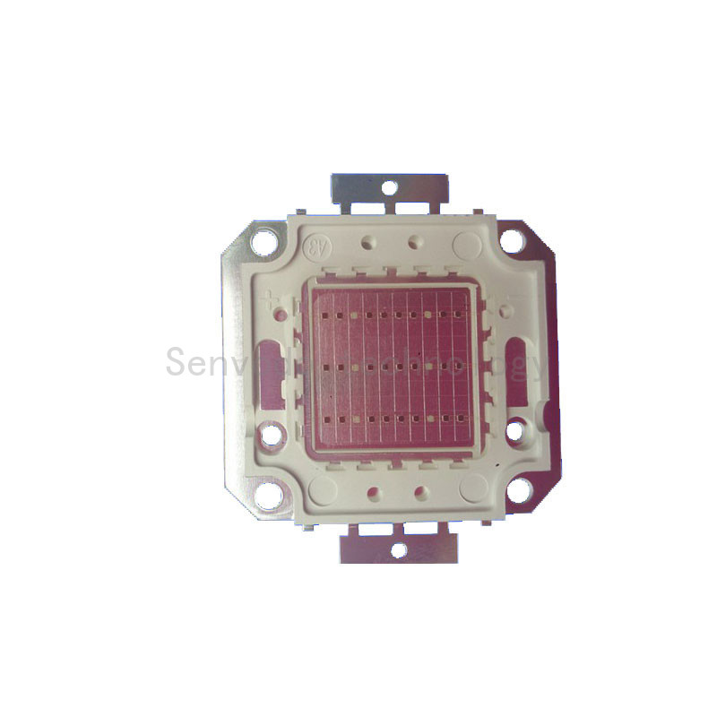 10X High quality Color mixing 660nm:<font><b>450nm</b></font>=8:2 plant grow integrated <font><b>led</b></font> chip 10W20W30W50W60W80W100W free shipping image
