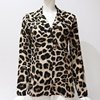 Chiffon Blouse Long Sleeve Sexy Leopard Print Blouse Turn Down Collar Lady Office Shirt Tunic Casual Loose Tops Plus Size Blusas 5