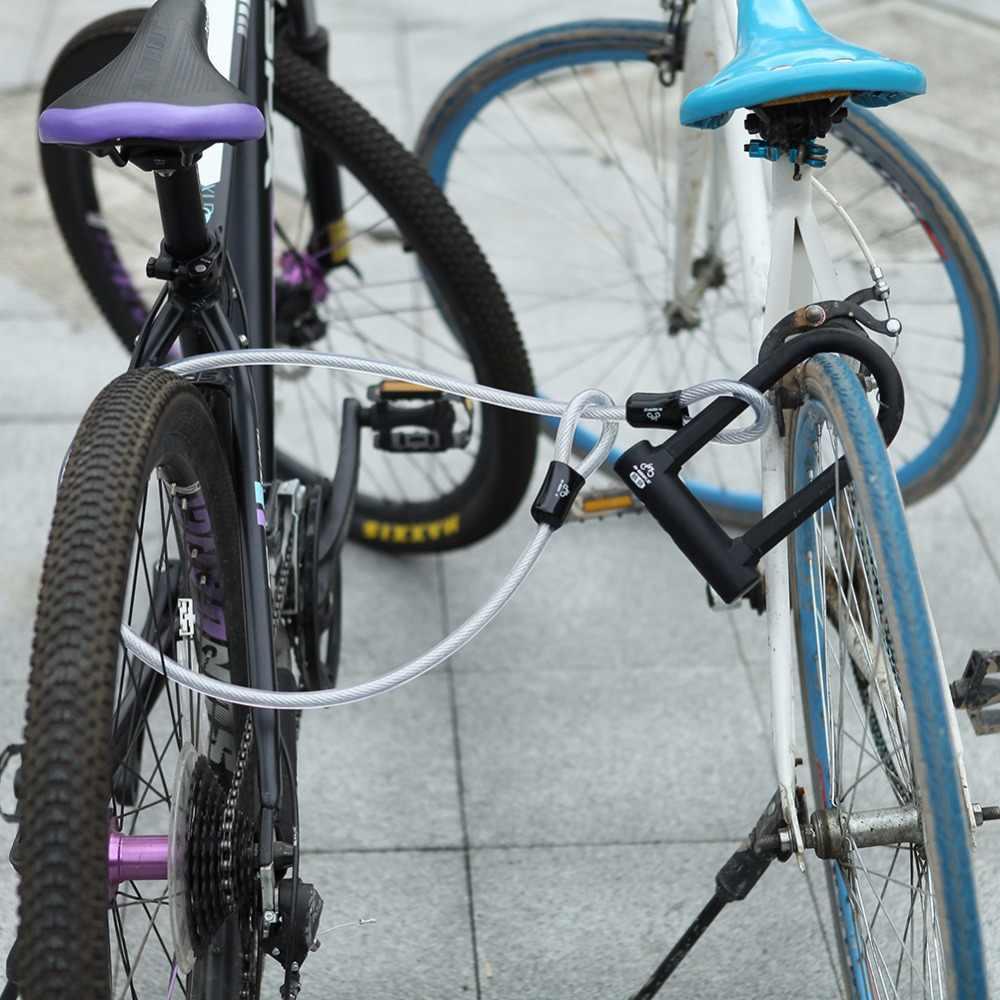 INBIKE Anti-Theft U Kunci Sepeda MTB ROAD Sepeda Kunci Sepeda Kunci Bersepeda Aksesoris Baja Tugas Berat Keamanan Sepeda kabel Ulock Set