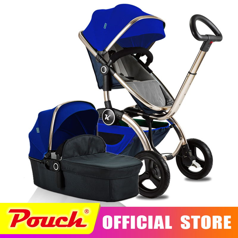 Kuudy Luxury Baby Stroller Folding Baby Carriage High Landscape Sit and Lie for Newborn Infant Four Wheels 2017 baby stroller pram folding baby carriage high landscape sit and lie for newborn infant four wheels children pushchair page 6
