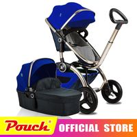Kuudy Luxury Baby Stroller Folding Baby Carriage High Landscape Sit and Lie for Newborn Infant Four Wheels