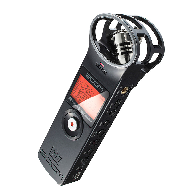 PK Tascam portable ZOOM H1 Handy Recorder Ultra-Portable Digital camera Audio Recorder Stereo microphone Interview SLR pen
