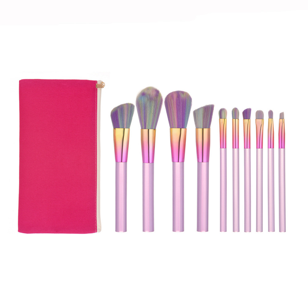 Pro Makeup Brushes Set Foundation Blending Powder Eyeshadow Contour Concealer Blush Cosmetic Beauty Make Up Kits Hot New 10PCS цена и фото