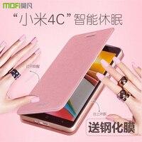 5 Color Top Quality Flip Leather Soft TPU Back Phone Cover Case For Xiaomi Mi4i Mi