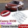 Per Toyota Camry XV30 Daihatsu Altis 2002 ~ 2006 Chrome Maniglia di Portello Della Copertura Accessori Per Auto Adesivi Trim Set 2003 2004 2005