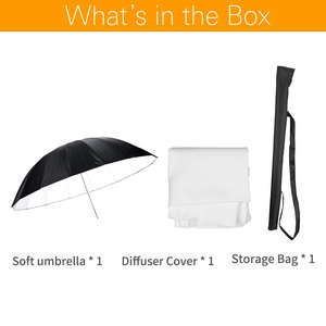 Image 2 - Godox paraguas reflectante blanco y negro de 70 pulgadas, 178cm, iluminación de estudio, paraguas con cubierta difusora grande