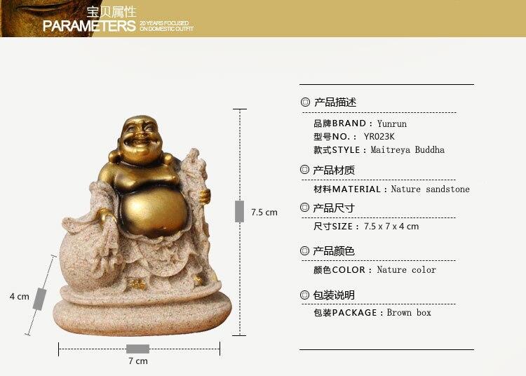 La Piedra natural Alegre Maitreya Buddha Estatua de Resina Dibujo ...