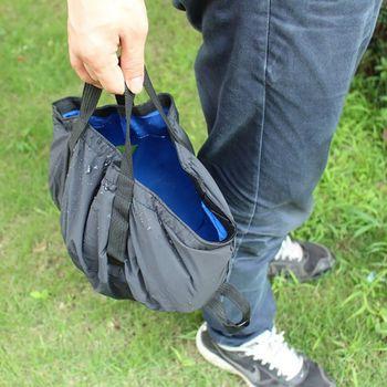 8.5L Outdoor Folding Camping Washbasin Fishing Travel Picnic Water Holder Bag Ultra-light Basin Bucket Portable Survival Tool