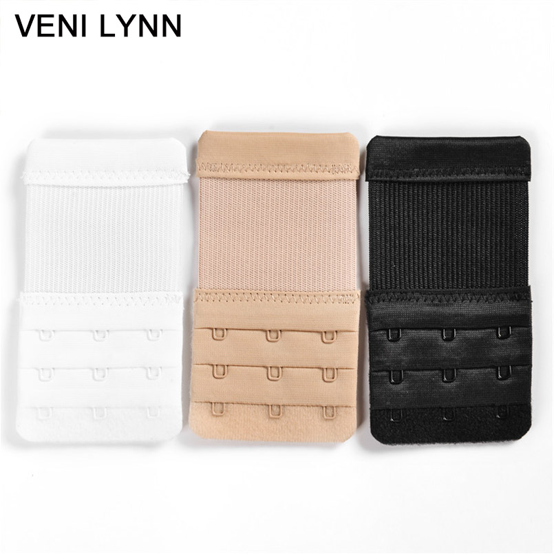 VENI LYNN 3 Pieces Underwear Buckle Bra Adapter Extender Brassiere Hook Elastic Extension Strap Set  Adding  Rows  Hooks